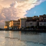 A beautifully dramatic evening on the island of Korchula, Croatia.