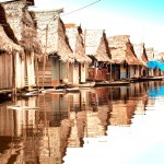 Floating Village in Iquitos, Peru (on the Amazon River)